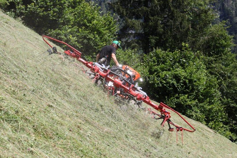 SIP Spider 350/4 Alp mit Umbausatz für Motormäher-Anbau.