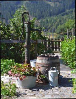 Wasser im Bauerngarten