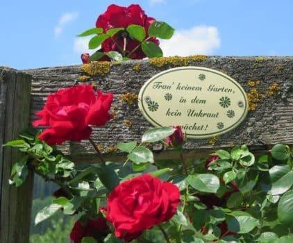 Bauerngarten Spruch