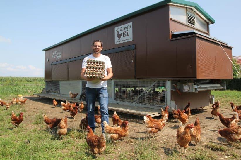 Mobilstall Hühner mobiler mobilställestall